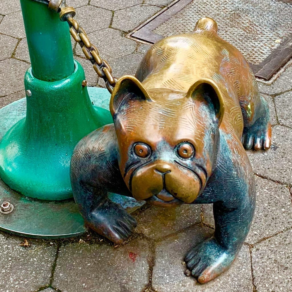 Tom Otterness - The Real World - Dog Sculpture