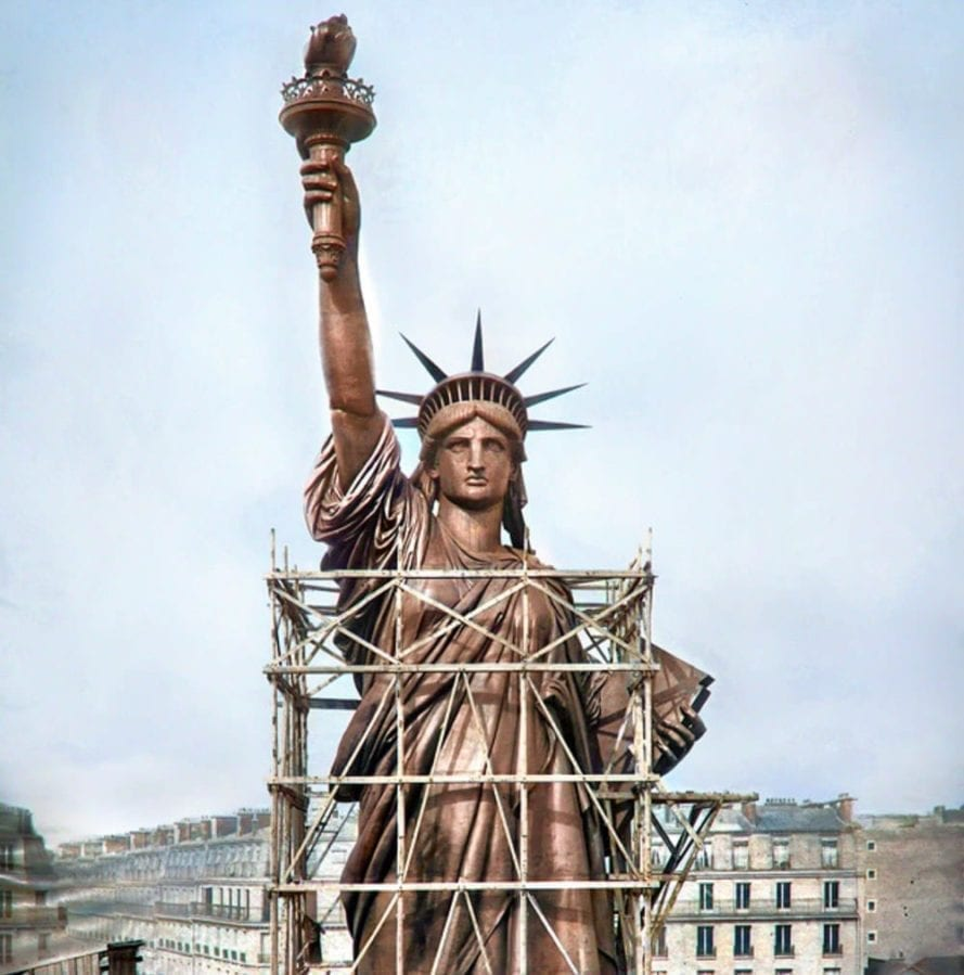 The Statue of Liberty Paris, France 1886 - built before it was shipped to the United States