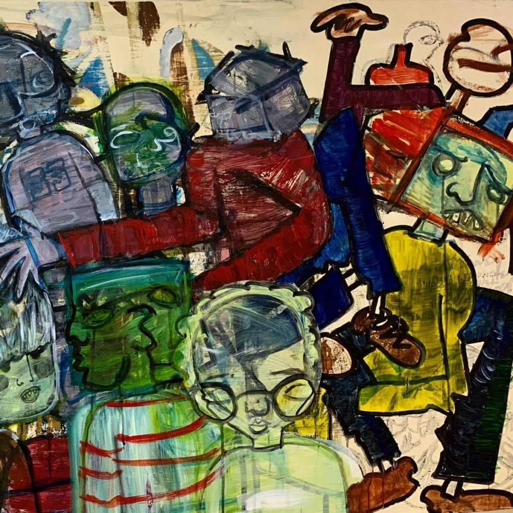 Mario Gonzales - When it Reigns I'm Poor - Painting