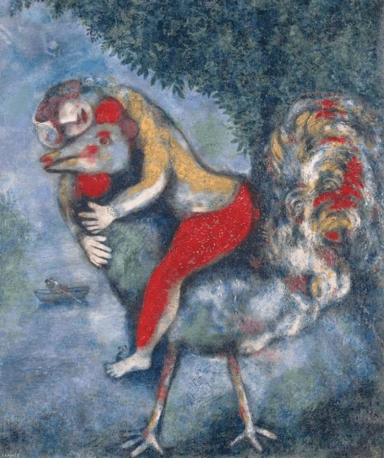 The Rooster - Marc Chagall - Oil on Canvas 1929