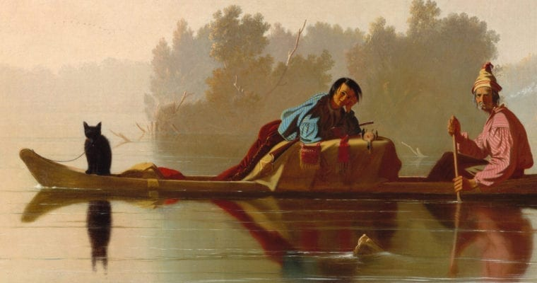 Fur Traders Descending the Missouri – George Bingham