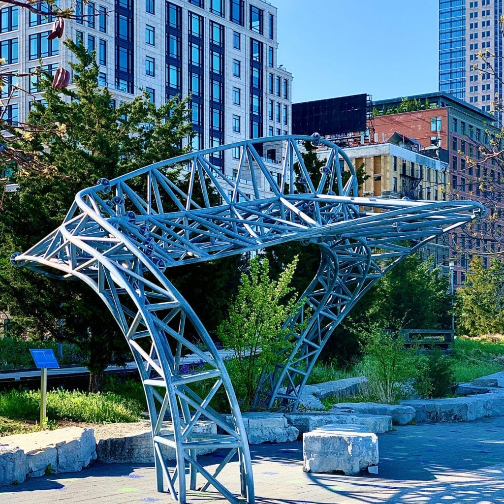 Marc Gibian - Twister: Serpentine Sculptures - Hudson River Park Esplanade