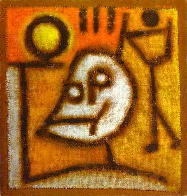 Death and Fire 1940 Oil Painting Paul Klee