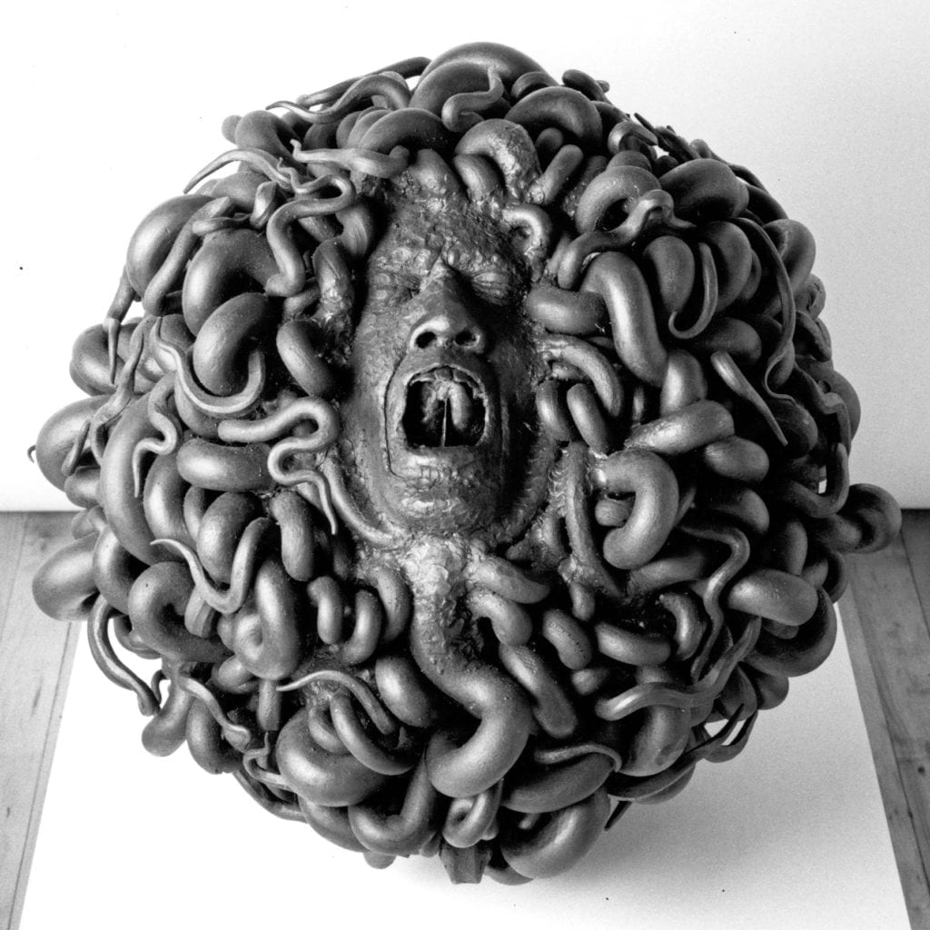 Screaming Medusa Sculpture