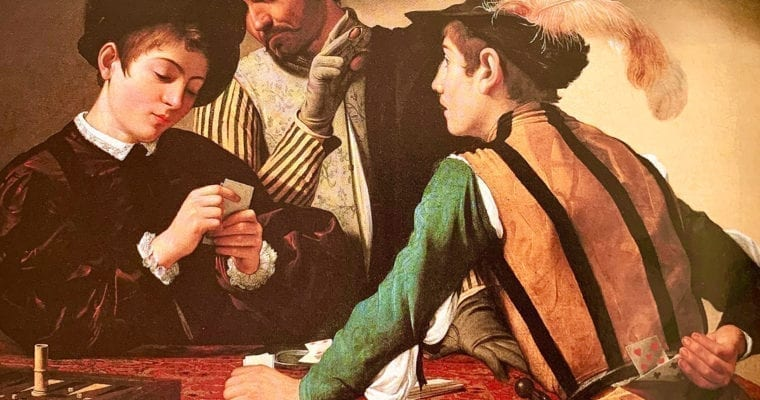 The Cardsharps by Michelangelo Caravaggio