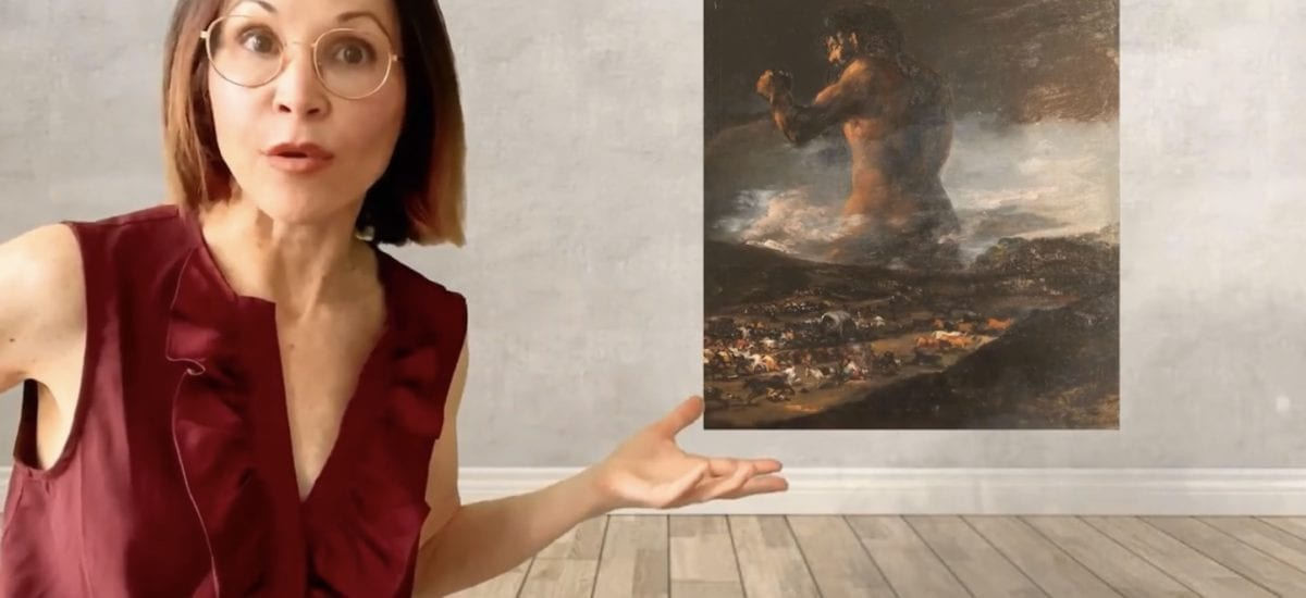 The Colossus Painting by Francisco de Goya