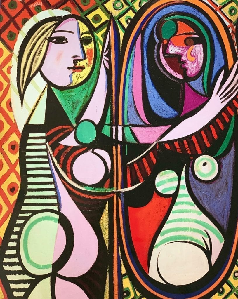 Girl-Before-Mirror-by-Pablo-Picasso Cubism Portrait