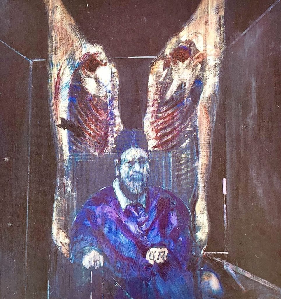 Head Surrounded by Sides of Beef - Francis Bacon - 1954 -