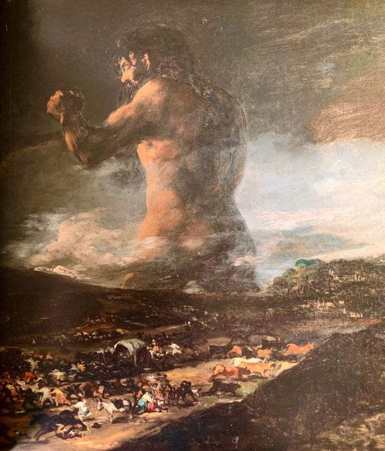 The-Colossus by Francisco Goya