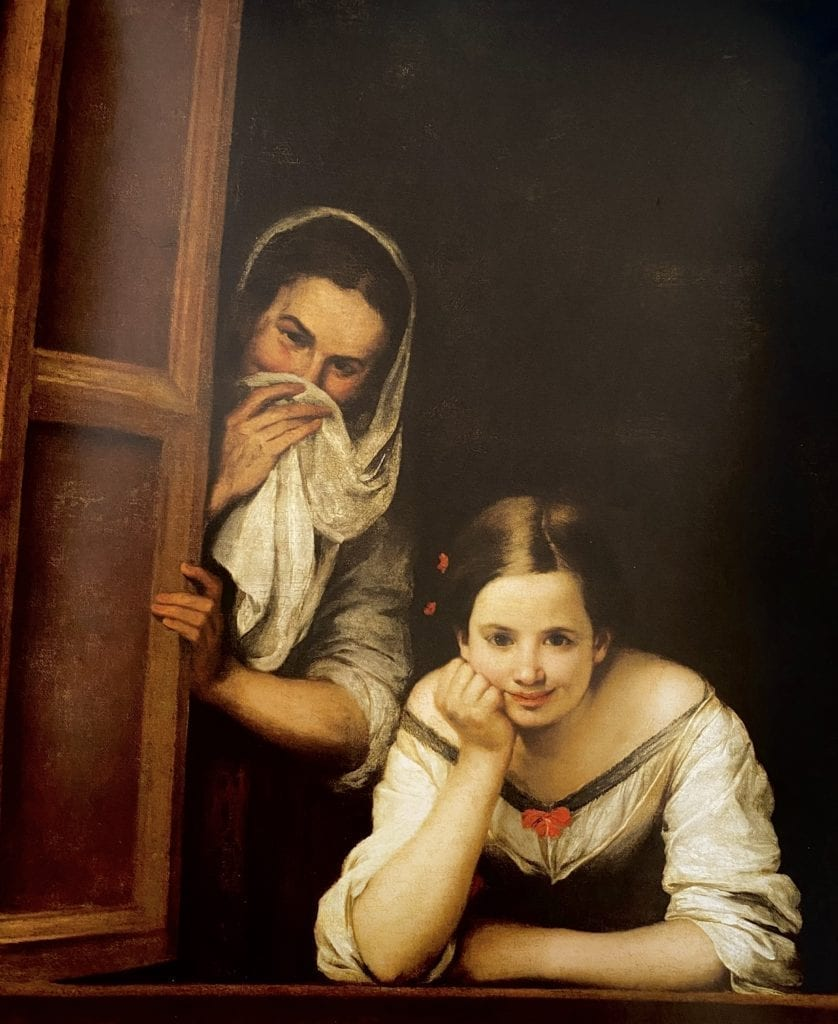 Two Women at a Window  - Bartolomé Esteban Murillo