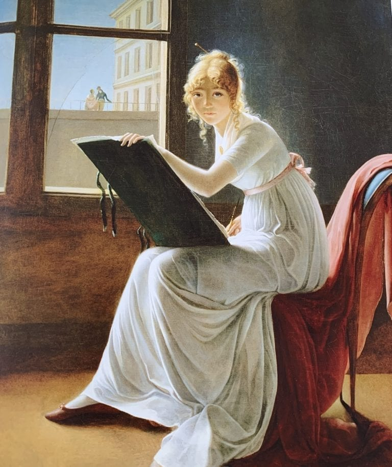 Young Woman Drawing - Feminist Painting of 1801 - Marie-Denise Villers