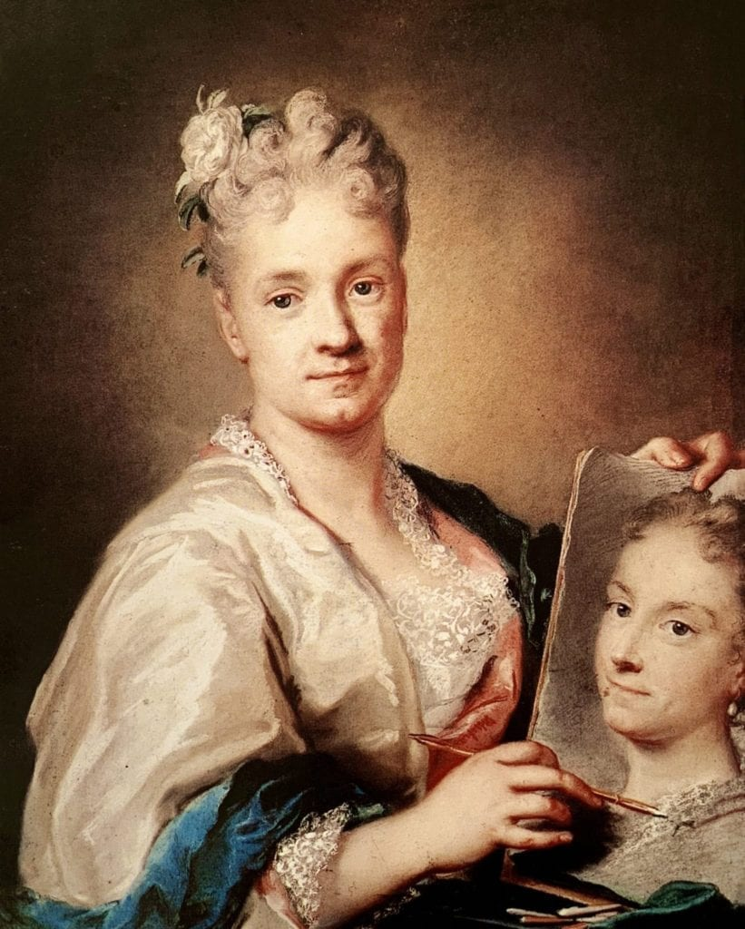 Self Portrait With Portrait of Her Sister by Rosalba Carriera