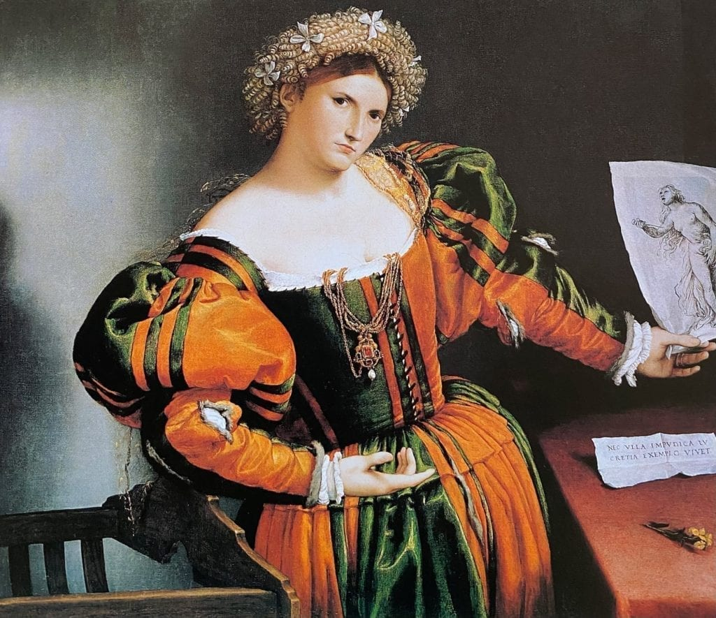 Lady With a Drawing of Lucretia
