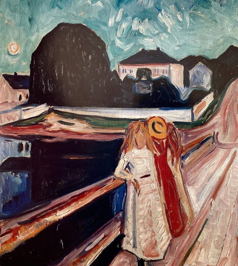 Girls on a Jetty by Edvard Munch
