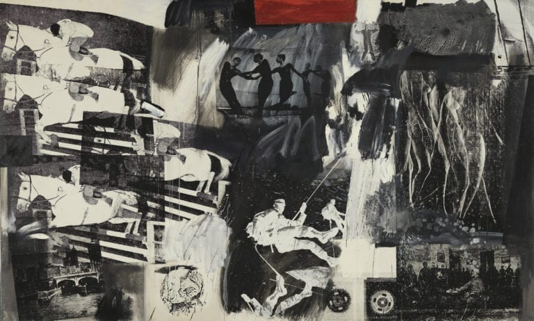 The 110 Express Painting by Robert Rauschenberg