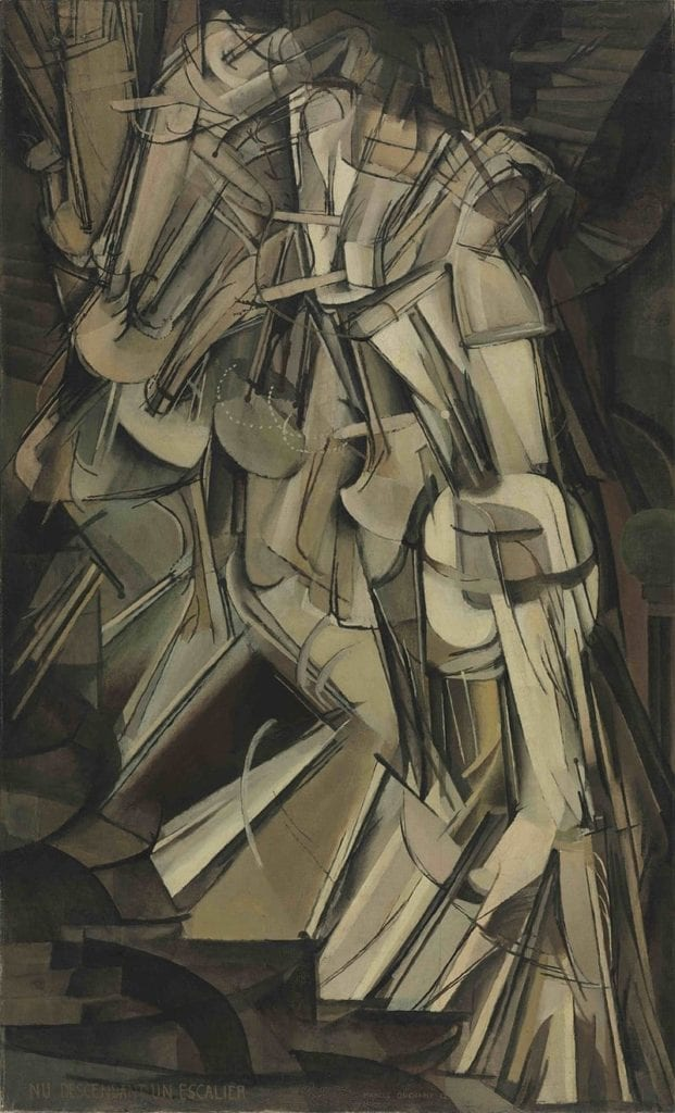 Nude descending a Staircase By Marcel Duchamp (1887-1968) - Philadelphia Museum of Art, PD-US