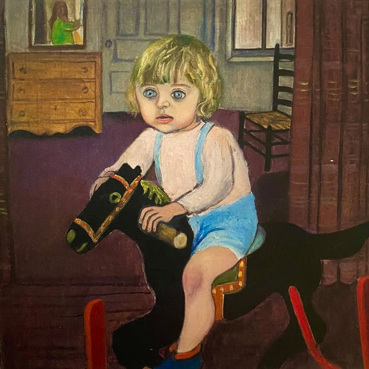 Hartley on the Rocking Horse by Alice Neel