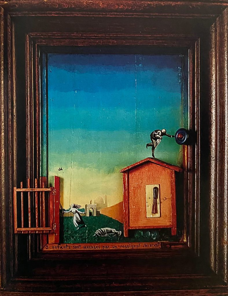 Two-Children-Threatened-by-a-Nightinglale - Max Ernst