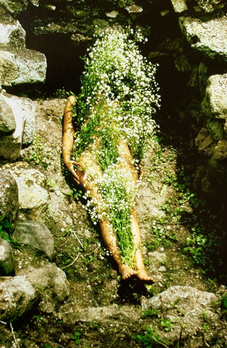 Flowers-on-Body from the Silueta series by Ana Mendieta